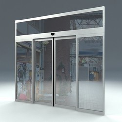 Censor Aluminium Door Fortune Doors Automatic Aluminium Sliding Door, for Commercial