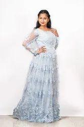 Net Blue Wedding Gown