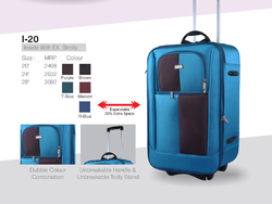 Blue Polyester Trolley Suitcase, Number Of Wheel: 4, Size: 28 Inch