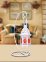 Iron, Glass Moroccan Lantern With Stand, Battery Type: Rechargeable