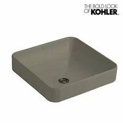 Cahsmere Countertop Kohler Forefront Vessel with Deck, Model Name/Number: 2661in-k4, L 413mm, H 170mm, W 413mm