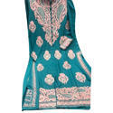 Cotton Embroidered Ladies Suits, Size: S, M & L