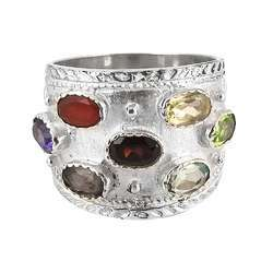 Frangipani Queen Amethyst 925 Sterling Silver Rings