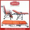 Ambulance Stretcher Cum Wheelchair Aluminium
