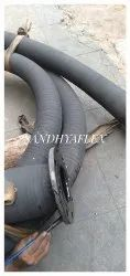 15 Mtr Black 3 Inch x5.0Mtr With Both End Flange Cement Feeding Rubber Hose