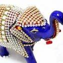 A Elegent Decorative Heavy Work Of Stone Elephant