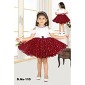 Cold Sleeves Girls Party Wear Frock