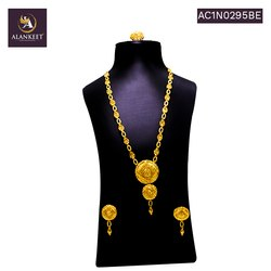 Gold Plated Fashionable Chain Set for Women