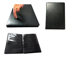 Black Leather Portfolio Album