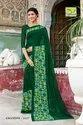 Thankar Casual Designer Georgette Printed Saree, Machine Made, 6 M (with Blouse Piece)