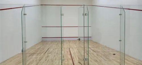 Brown Indoor Glossy Squash Court Flooring