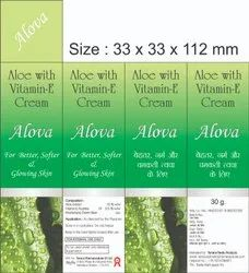 White Alova Cream 30g for Personal Use, Type Of Packaging: Tube