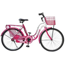 Pink and Black Mild Steel Road Master Pretty Lady Women Bicycle