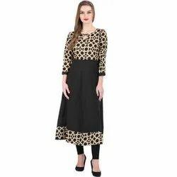 Crepe Churidar Ladies Fancy Anarkali Suit, Handwash