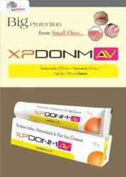 Povidone-Iodine 5%W/W  Metronidazole 1%W/W   Aloe Vera 1.5%W/W