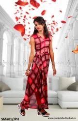 Reyon Sleeveless Designer Check Kurti, Size: S, M and L
