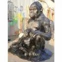 Gorilla with Baby Statue (Code A-3)