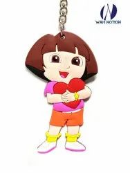 Wah Notion PVC Keyring Cute Girl Chains For Kids Birthday Party Return Gift