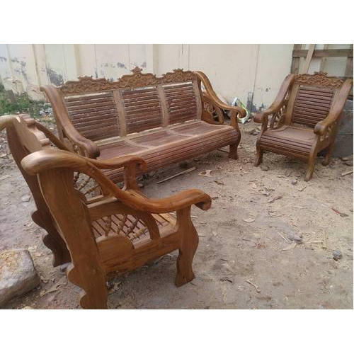 Burma Teak Wooden Sofa Set