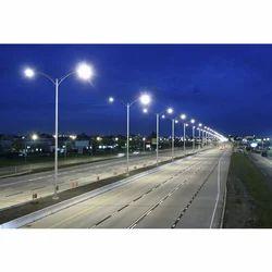 White High Mast Lighting Poles