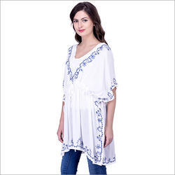 Short Embroidery Kaftan
