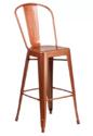 Powder Coated Kernig Krafts Metal Stackable Cafe Restaurant Light Brown Chair, Size: 18