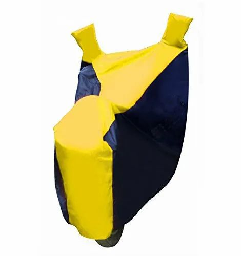 Yellow And Navy Blue Sporty Double Colour Bike Body Cover
