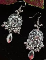 Oxidised Afghani Heavy Look Earrings