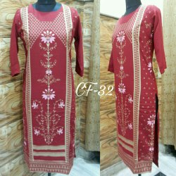 Calista Fashion-32 Rayon Printed Kurti