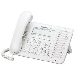 black and white PANASONIC KX-DT546-W DIGITAL PHONE, For Office