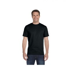 Mens Black Half Sleeves T-Shirt
