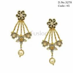 Traditional Meenakari Handmade Bridal Earrings