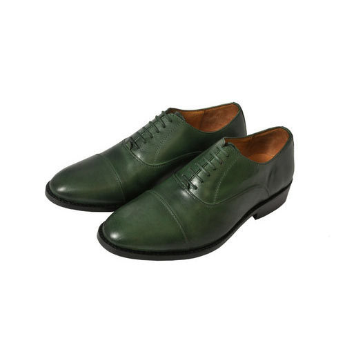 b4d1eda12f79 AM Men Green Semi Formal Shoes