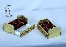 Meenakari Wood Bed For God