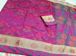 Silk Party Wear And Bridal Wear Banarasi  Saree