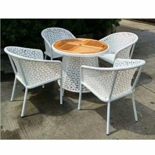 White Garden Chair Set At Rs 33000, White Garden Furniture