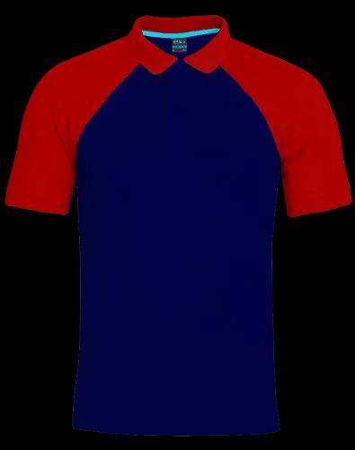 Proidentity Contrast Ink Blue Red Polo T-Shirt