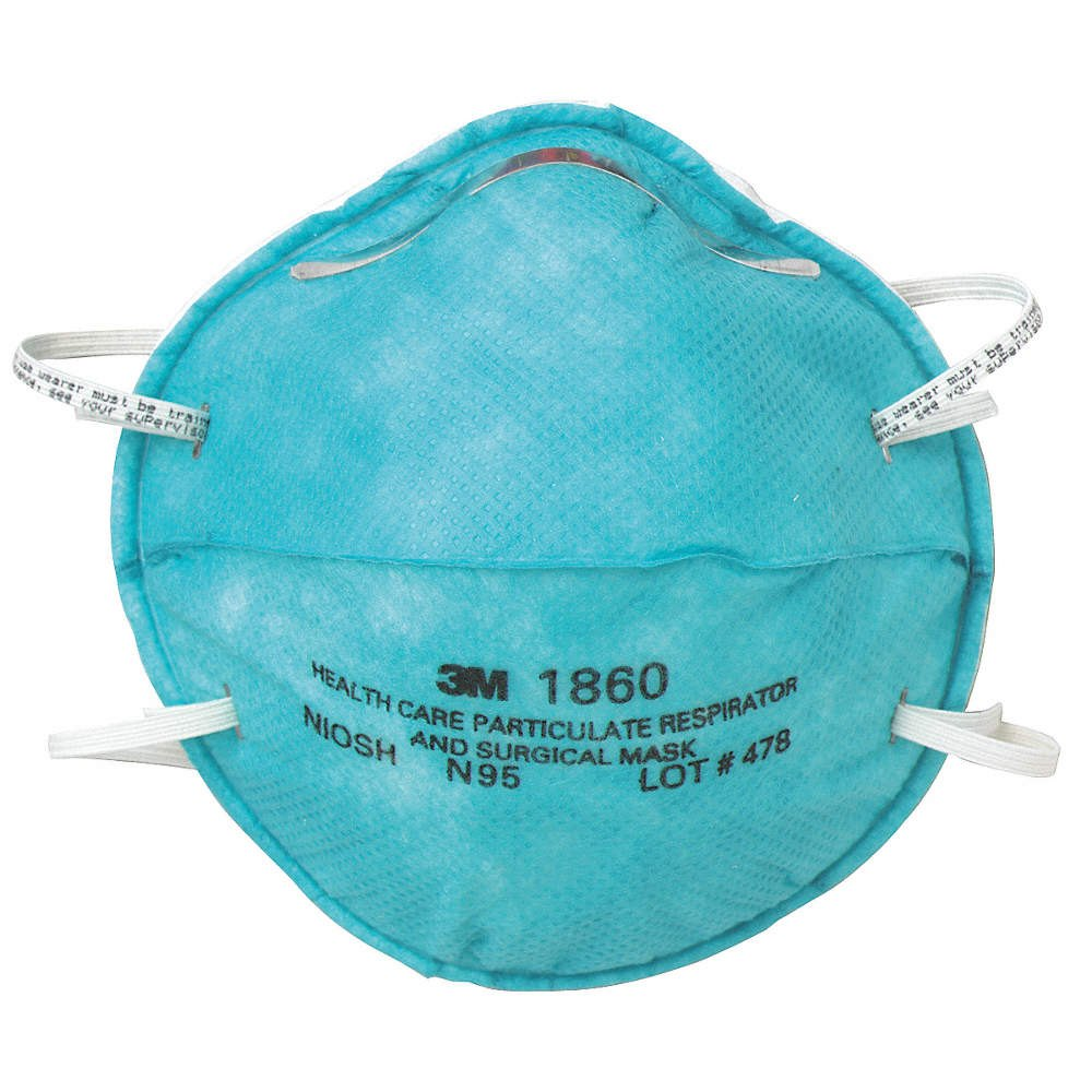 3M Safety 1860, N95 Particulate Respirator and Surgical Mask