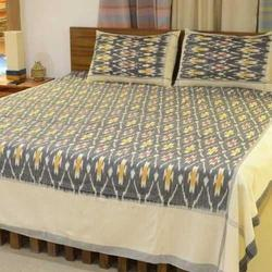 Pochampally Designer Double Bedsheet