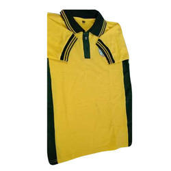Poly Cotton Collar Neck Yellow T-Shirt