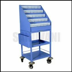 Powder Coated Emergency Drug Trolley