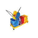 Triple Bucket Wringer Trolley