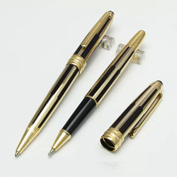 New Mont blanc Black/Gold Meisterstuck 163 Series Pens With Mb Box