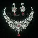 American Diamond White Stone Bridal Necklace