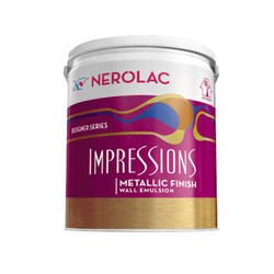 Nerolac Impressions Metallic Finish Emulsion Wall Paint, Packaging Type: Bucket