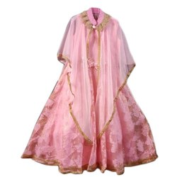 Aroma Girl's Net Pink Gown