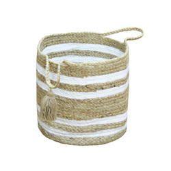 Large Capacity Jute Storage Bin Baskets with Handles