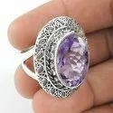 925 Sterling Silver Citrine Gemstone Ring
