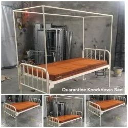 Single bed with mosquito net frame