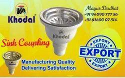 Khodal Plastic PVC Sink Coupling, Size: (3